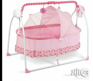 Rocking Baby Bed With Mosquito Net - Pink   Children's Gear & Safety for sale in Lagos State, Ajah