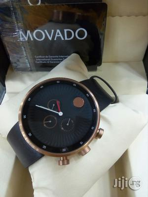 Movado Bold Chronogragh Genuine Leather Watch | Watches for sale in Lagos State, Surulere