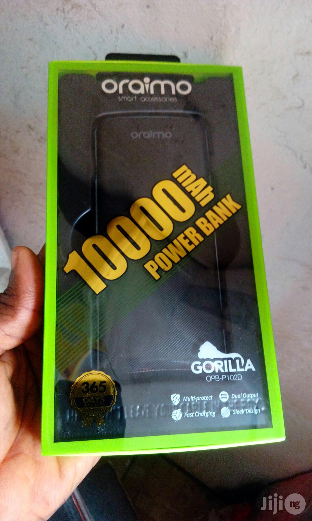 Oraimo Power Bank 10000mah | Accessories for Mobile Phones & Tablets for sale in Ikeja, Lagos State, Nigeria