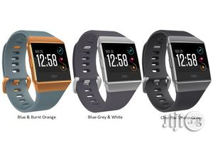 Fitbit Ionic Smartwatch, Charcoal/Smoke Gray/ Black One Size   Smart Watches & Trackers for sale in Lagos State, Ikeja