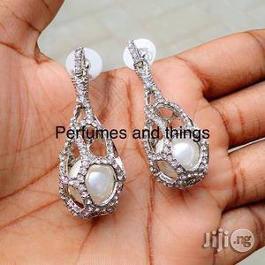 Vintage Silver Earrings Pearl Earrings   Jewelry for sale in Lagos State, Ikorodu