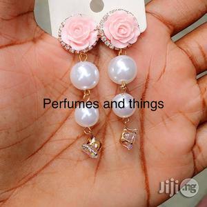 Rose Pearl Dropping Earrings   Jewelry for sale in Lagos State, Ikorodu