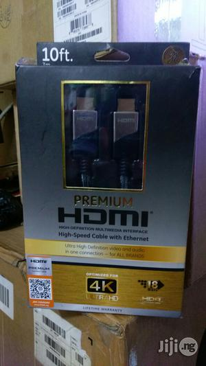 HDMI High Speed Cable With Ethernet 10ft (3m)   Accessories & Supplies for Electronics for sale in Lagos State, Ikeja