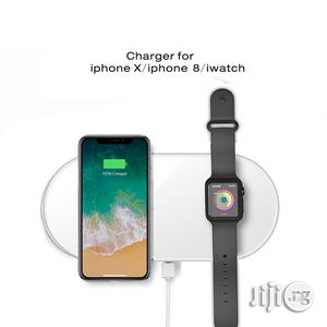 Dual Wireless Charger for iPhone X Iwatch | Smart Watches & Trackers for sale in Lagos State