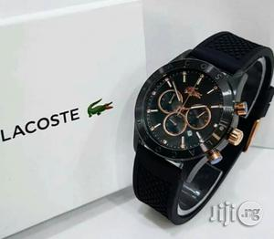 Lacoste Chronograph Rubber Strap Watch | Watches for sale in Lagos State, Lagos Island (Eko)