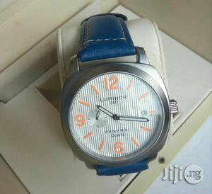 Luminor (GMT) Silver Leather Strap Watch | Watches for sale in Lagos State, Lagos Island (Eko)