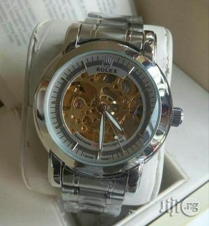 Rolex Automatic Skeleton Silver Chain Watch | Watches for sale in Lagos State, Lagos Island (Eko)