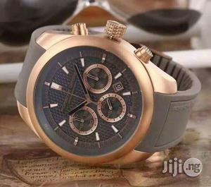 Porsche Design Chronograph Rose Gold Rubber Strap Watch | Watches for sale in Lagos State, Lagos Island (Eko)