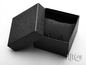 Fashion Paper Watch Box Cardboard Watches Case With Pillow - Black | Manufacturing Materials for sale in Lagos State, Agege