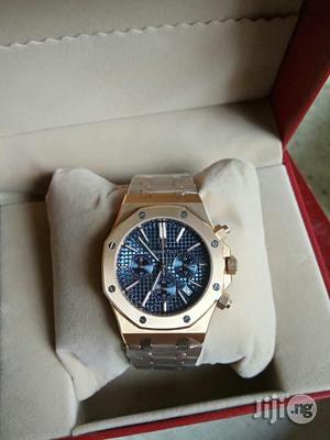 Audemars Piguet (AP) Chronograph Rose Gold Blue Face Chain Watch | Watches for sale in Lagos State, Lagos Island (Eko)