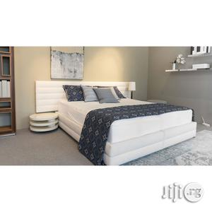 Optimum Upholstered Bed Frame 4.5 X 6 Feet | Furniture for sale in Lagos State, Abule Egba