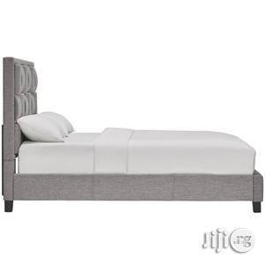 Woven Blocks Upholstered Bed Frame | Furniture for sale in Lagos State