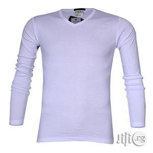 Police 1008 Freesize Plain White Medium Long Sleeve T-shirt | Clothing for sale in Lagos State, Surulere