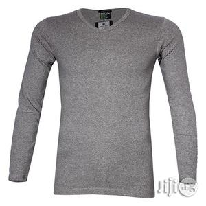 Police 1008 Freesize Plain Grey Medium Long Sleeve T-shirt | Clothing for sale in Lagos State, Surulere