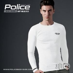 Police B.353 Bigsize White Large Printed Long Sleeve T-shirt   Clothing for sale in Lagos State, Surulere
