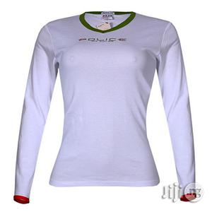Police G.273 Bodygirl White Medium Printed Long Sleeve T-shirt | Clothing for sale in Lagos State, Surulere