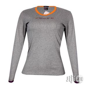 Police G.273 Bodygirl Grey Medium Printed Long Sleeve T-Shirt | Clothing for sale in Lagos State, Surulere