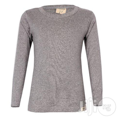 Police Kb.005 Bodykid Grey 2-4/4-6/6-8 Yrs Plain Long Sleeve T-Shirt