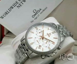 Omega Chronograph Silver Chain Watch | Watches for sale in Lagos State, Lagos Island (Eko)