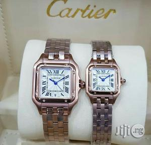 Cartier Square Face Rose Gold Chain Watch | Watches for sale in Lagos State, Lagos Island (Eko)