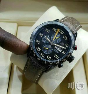 Tag Heuer Chronograph Leather Strap Watch | Watches for sale in Lagos State, Lagos Island (Eko)