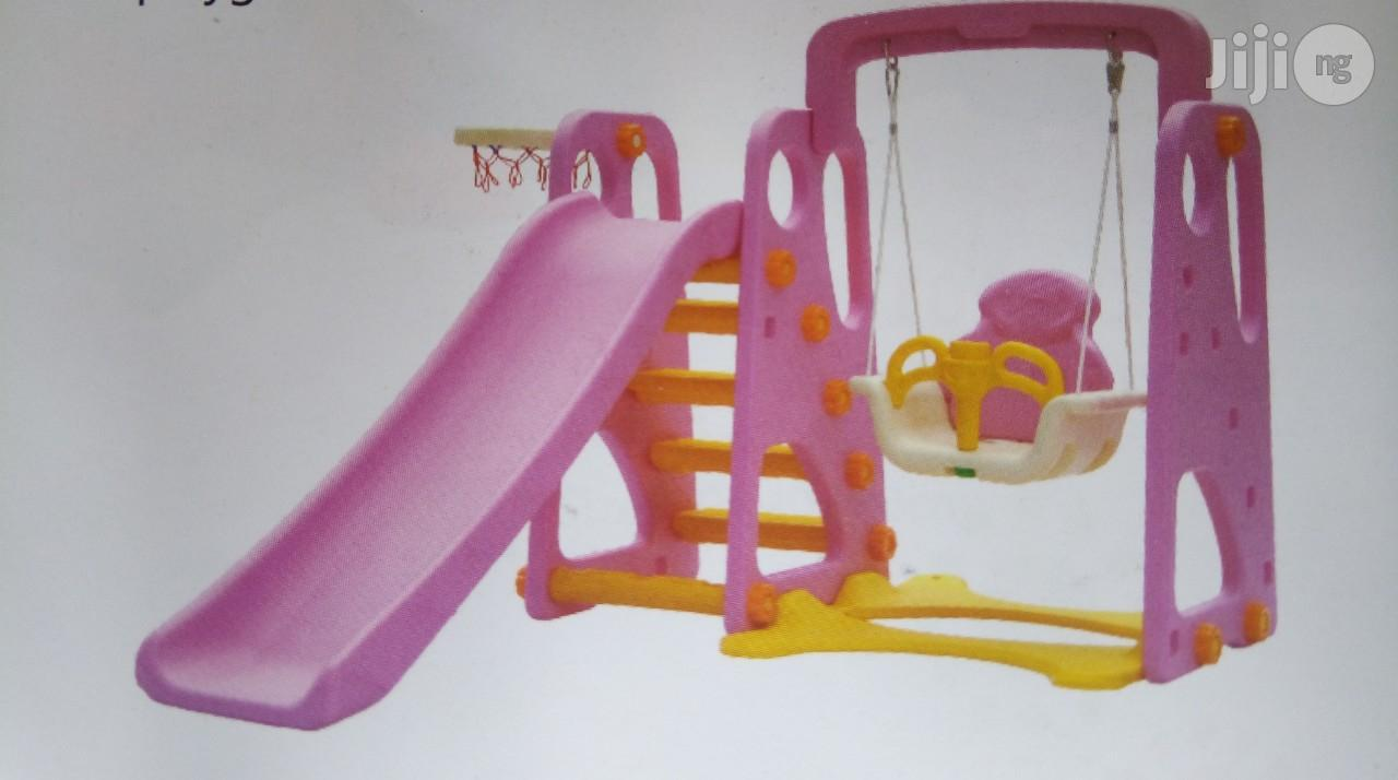 Playground Slide With Protected Swing & Net