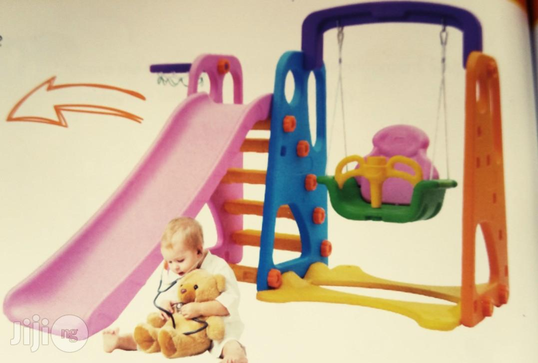 Playground Slide With Protected Swing & Net | Toys for sale in Ikeja, Lagos State, Nigeria