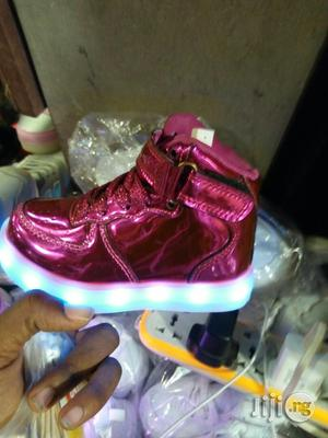LED Light High Top Ankle Sneakers for Kids   Children's Shoes for sale in Lagos State, Lagos Island (Eko)