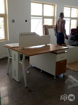 2man Workstation With Metal Legs | Furniture for sale in Lagos State, Ikeja