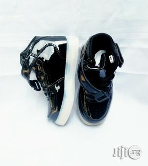 LED Glossy Black High Top Canvas | Children's Shoes for sale in Lagos State, Lagos Island (Eko)