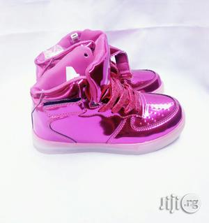 LED Fuschia Pink High Top Canvas   Children's Shoes for sale in Lagos State, Lagos Island (Eko)