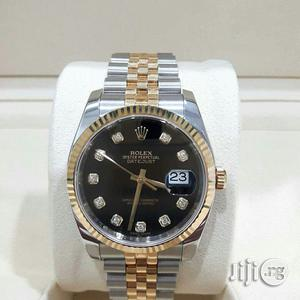 Rolex Oyster Perpetual Day Just Gold Silver Chain Ladies Watch | Watches for sale in Lagos State, Surulere