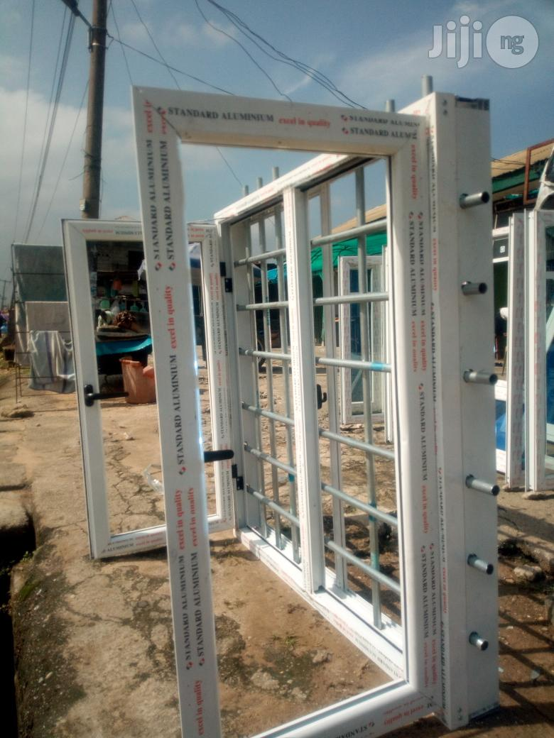 Casement Window With Galvanised Pipe Protectors | Windows for sale in Port-Harcourt, Rivers State, Nigeria
