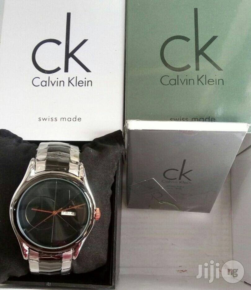 Calvin Klein Black/Silver Chain Watch