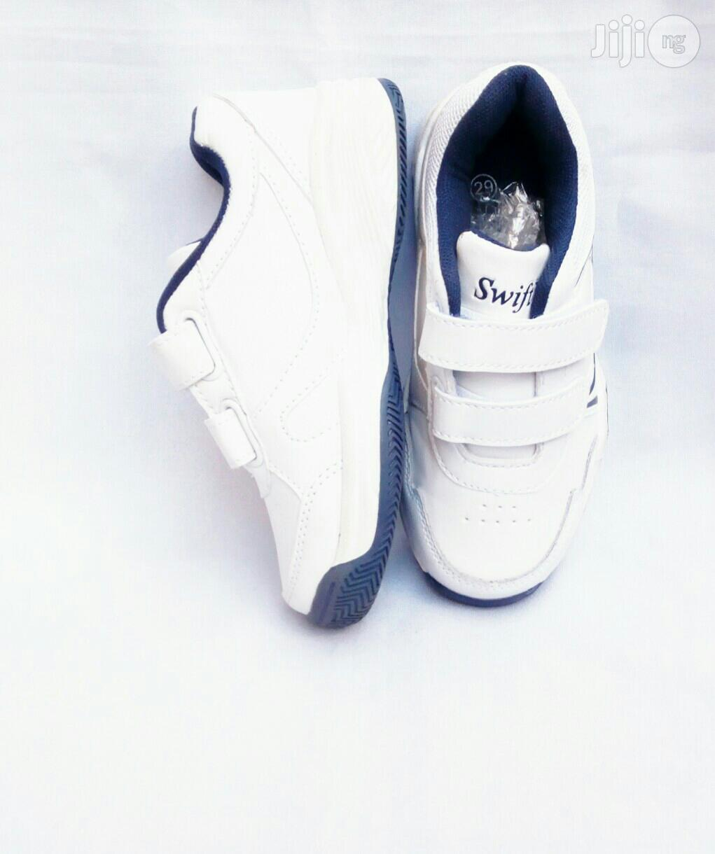 White Canvas With Blue Inner Lining | Children's Shoes for sale in Lagos Island (Eko), Lagos State, Nigeria