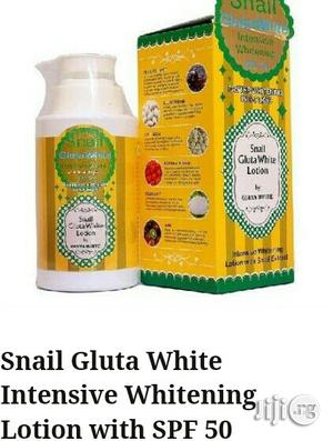 Snail Gluta White Lotion With Spf 50 | Bath & Body for sale in Rivers State, Port-Harcourt
