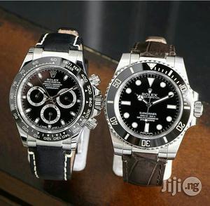 Rolex Daytona Silver Leather Strap Watch   Watches for sale in Lagos State, Lagos Island (Eko)