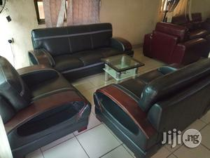 Superb Strong Complete Set of 7 Seaters Sofa Leather Chair   Furniture for sale in Lagos State, Lekki