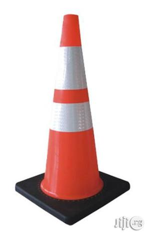 """28"""" Orange PVC Traffic Safety Cone With Black Base   Safetywear & Equipment for sale in Lagos State"""