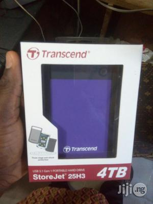 Transcend 4TB 25H3 2.5inch Usb 3.0 Portable Hard Drive | Computer Hardware for sale in Lagos State, Ikeja