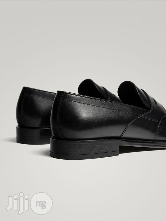 Massimo Dutti - Black Leather Penny Loafers   Shoes for sale in Lagos Island (Eko), Lagos State, Nigeria