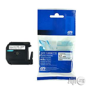 Brother Mk-tape 12mm Black On White   Computer Accessories  for sale in Lagos State, Ikeja