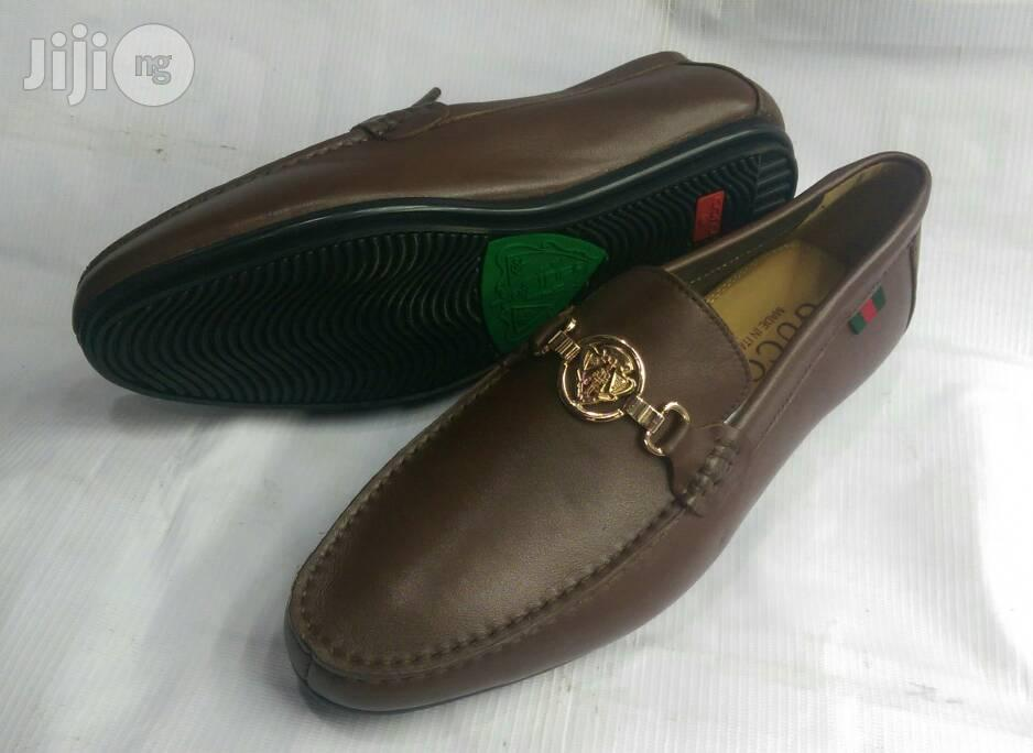 Men Brown Leather Loafers