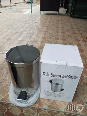 Superb Strong 12liter Stainless Steel Step Bin Brand New | Home Accessories for sale in Lagos State, Lekki