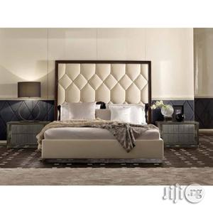 Diamond Upholstered Leather Bed | Furniture for sale in Lagos State