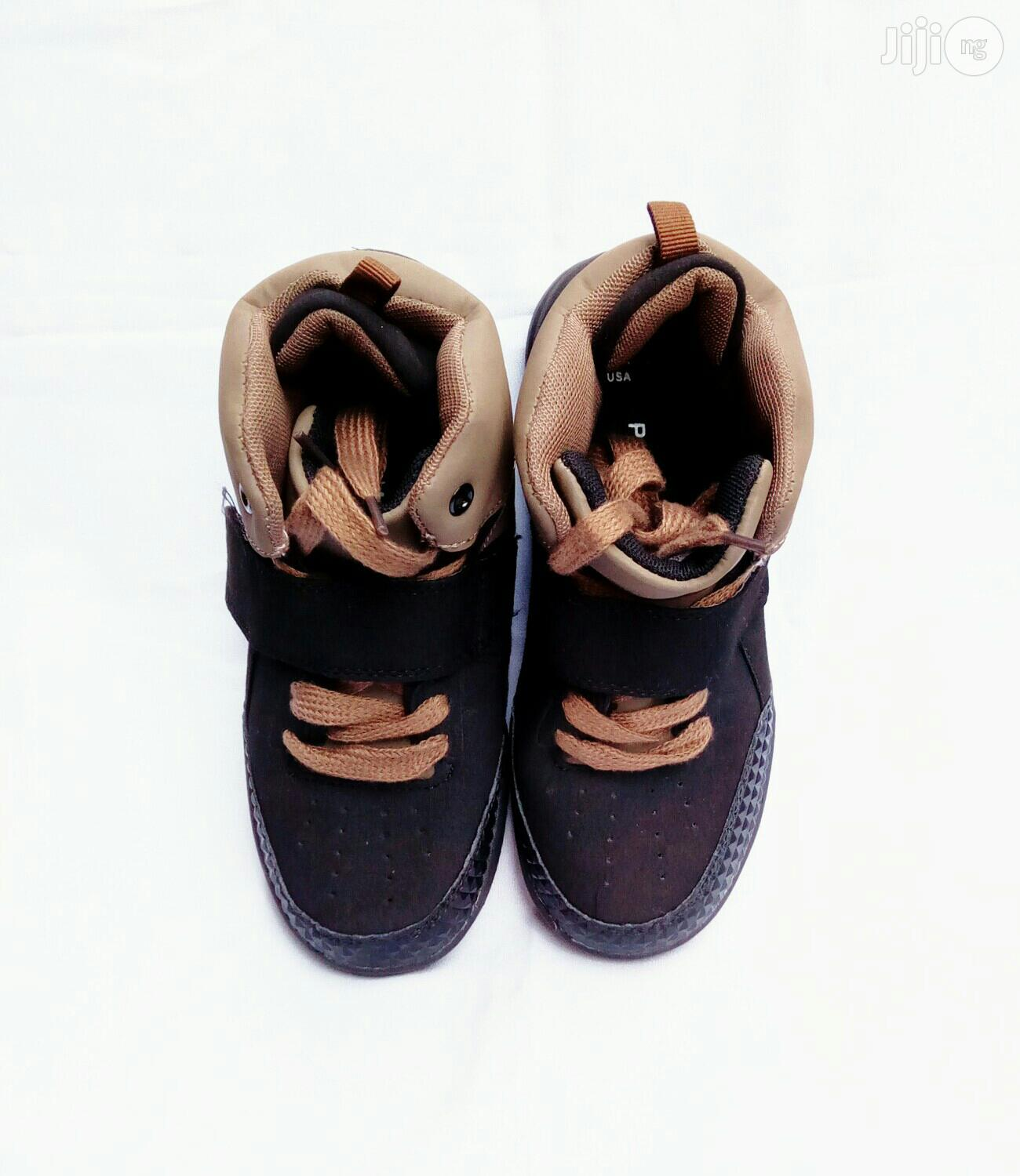 Brown and Black High Top Canvas | Children's Shoes for sale in Lagos Island (Eko), Lagos State, Nigeria