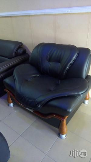 Leather Sofa Chair.   Furniture for sale in Lagos State, Magodo