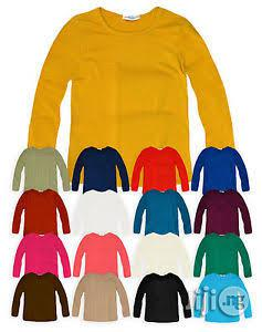 Good Quality Cotton Plain Long-Sleeved Tee Shirt (Wholesale) | Children's Clothing for sale in Lagos State
