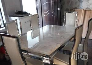 Affordable Six Seater Marble Dining Table | Furniture for sale in Lagos State, Ajah