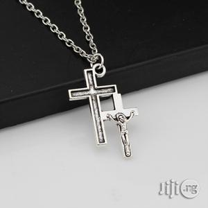 Twin Jesus Cross Silver Chain Pedant   Jewelry for sale in Lagos State, Ikeja